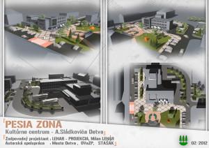 KD Detva_pešia zóna 3D